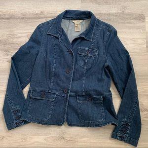 L.L. Bean stretch denim jean jacket M